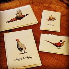 pheasant card, pheasant greetings card, game bird card, shoot card, business card, gamebird artwork, shoot artwork, pheasant shoot