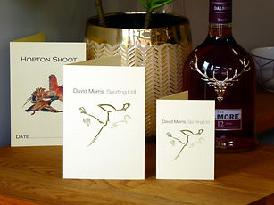 shoot cards, game cards, peg cards, peg numbers, bag cards, pheasant cards,