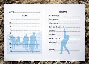 shoot card personalised watermark pheasant partridge game shooting