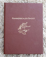 Bespoke shoot card record album for Rammerscales shoot, shoot cards, game cards