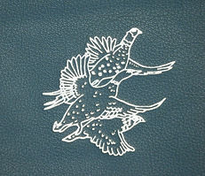 triple bird image pheasant partridge duck bespoke shoot card record storage album leather, shoot cards, game cards