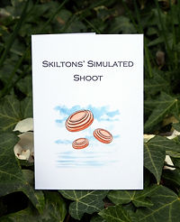 simulated game card, clay pigeon card, shooting, pheasant shooting, game card, shoot card
