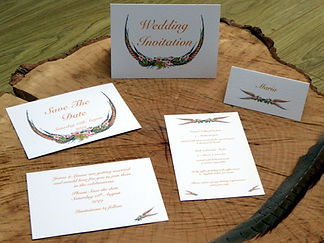 pheasant feather shoot wedding stationery, shoot cards, game cards