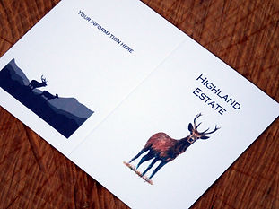 Bespoke Stag shoot card, pheasant shoot