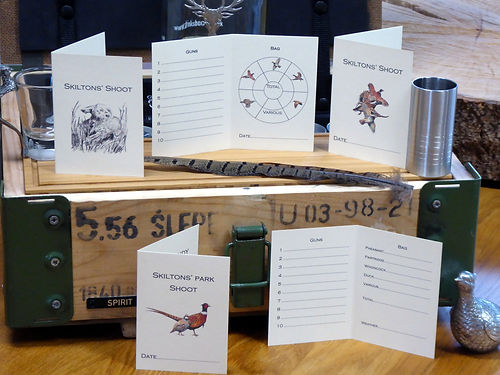 shoot cards, game cards, peg cards, bag cards, pheasant shoot, pheasant artwork, bespoke cards