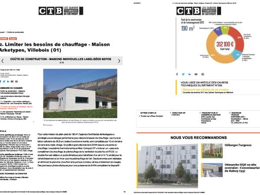 L'obs. BBC- Projet de construction maison individuelle certifiée Bepos-Effinergie.