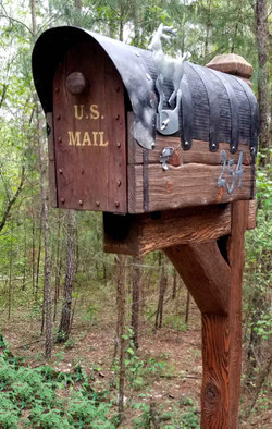 All Cedar Mailbox With Post
