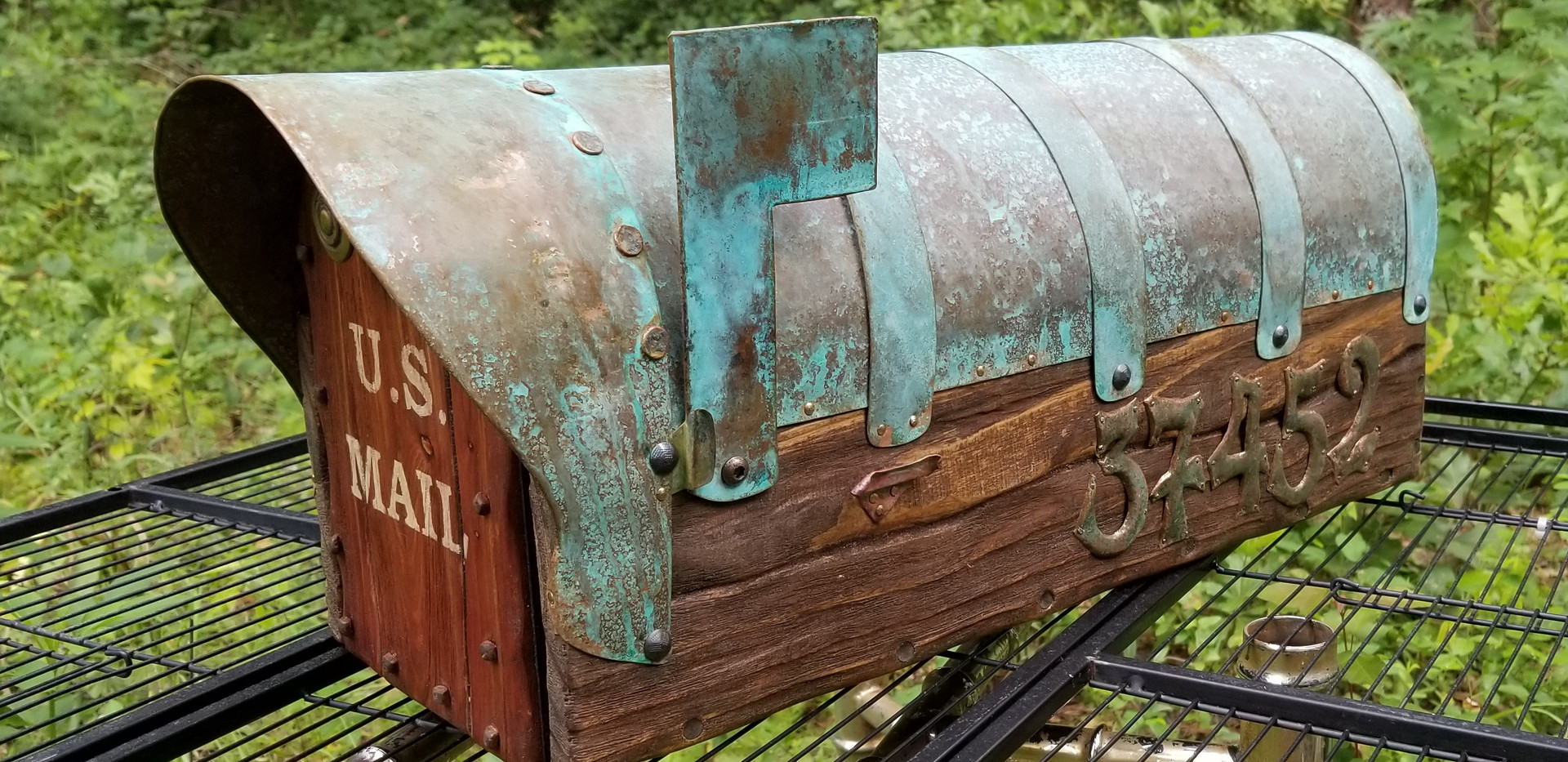 Rustic Mailbox Copper Roof