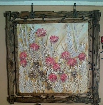Rustic flowers painting