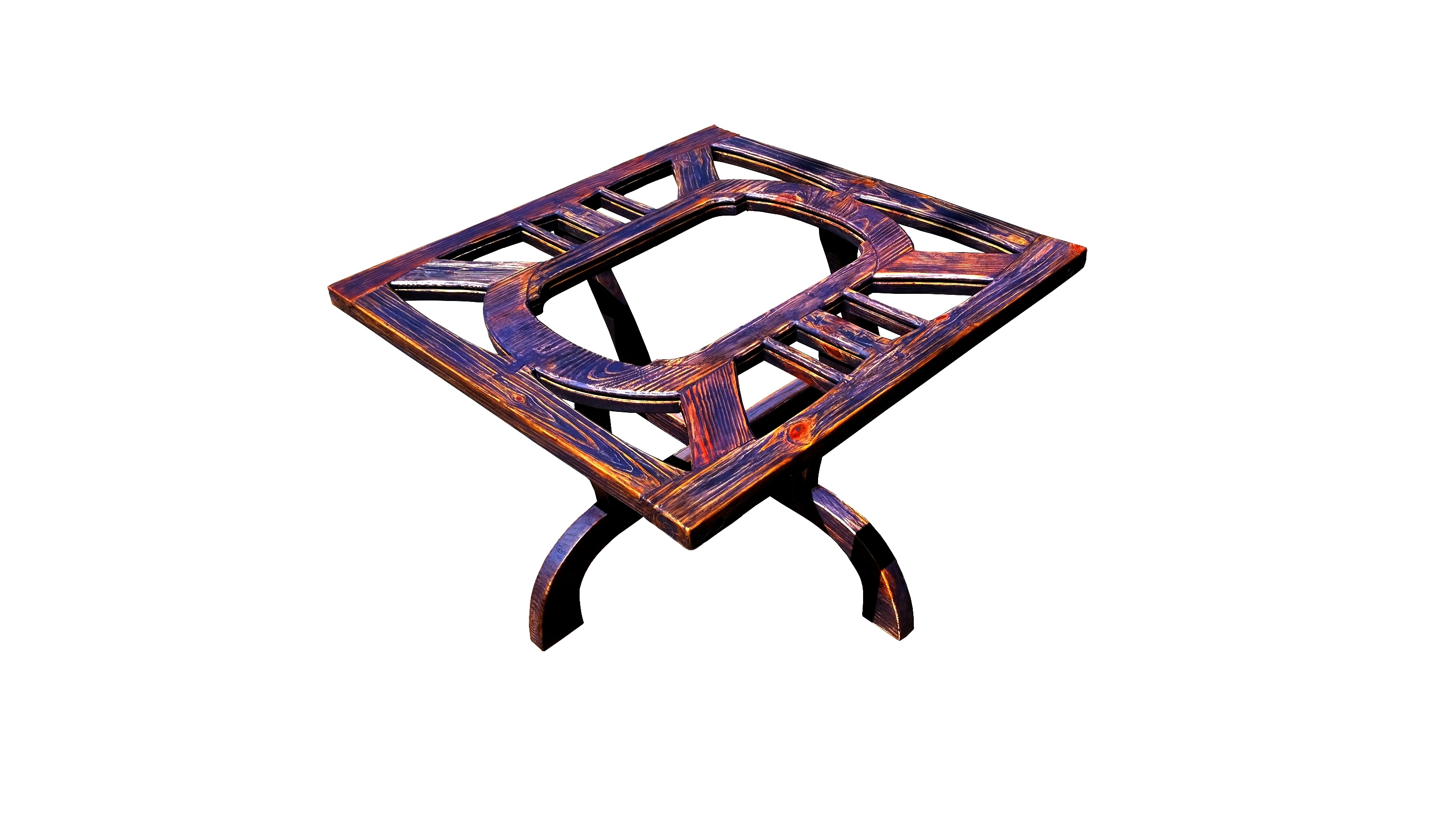 modern rustic purple table