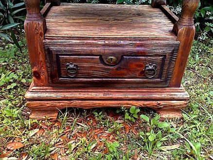 Rustic cabinet. Detail