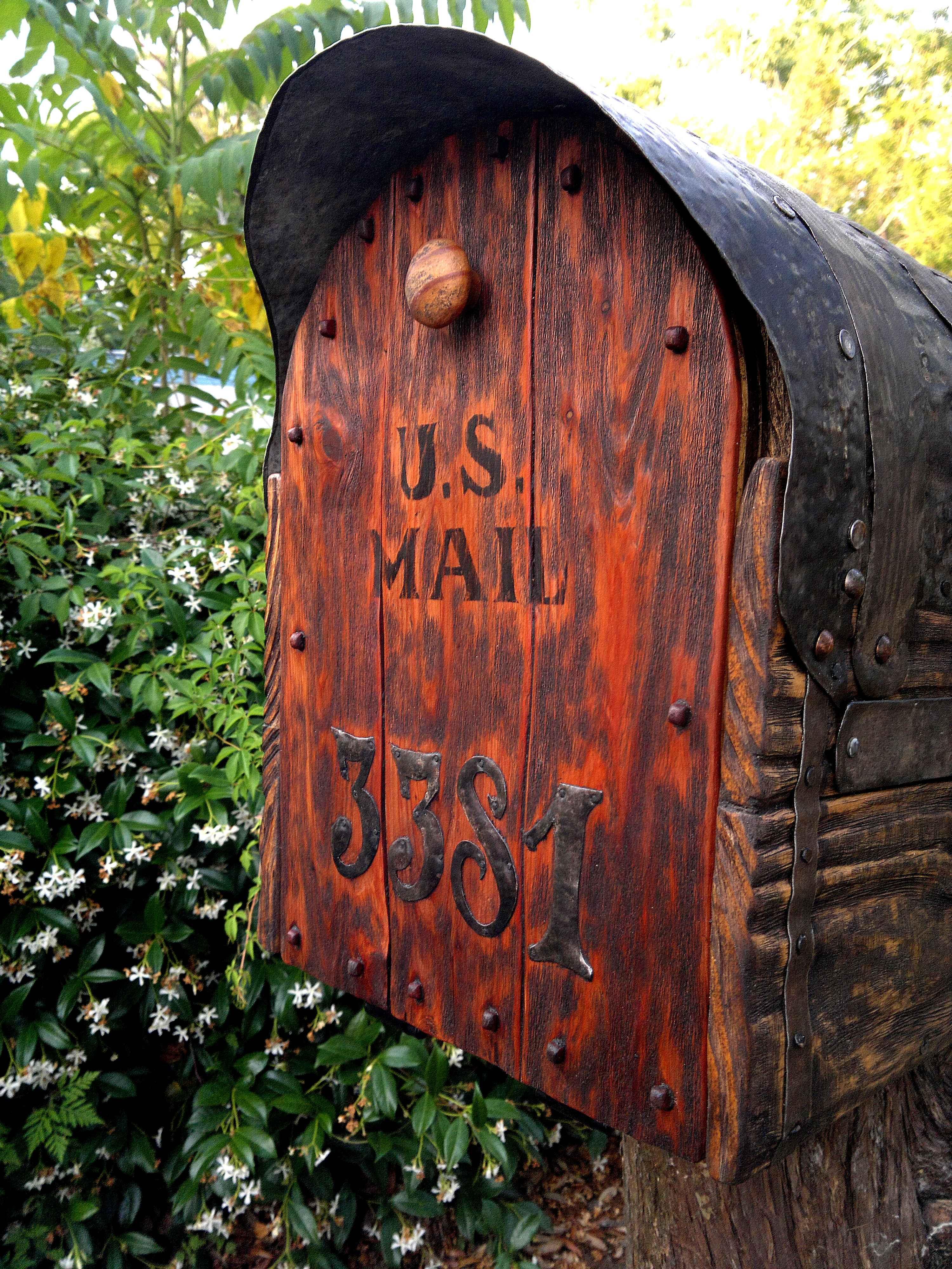Rustic cedar door