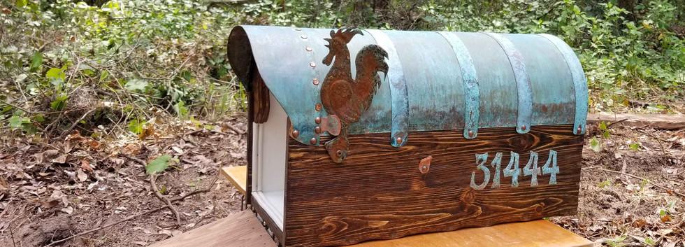 Rustic Cedar Copper Mailbox