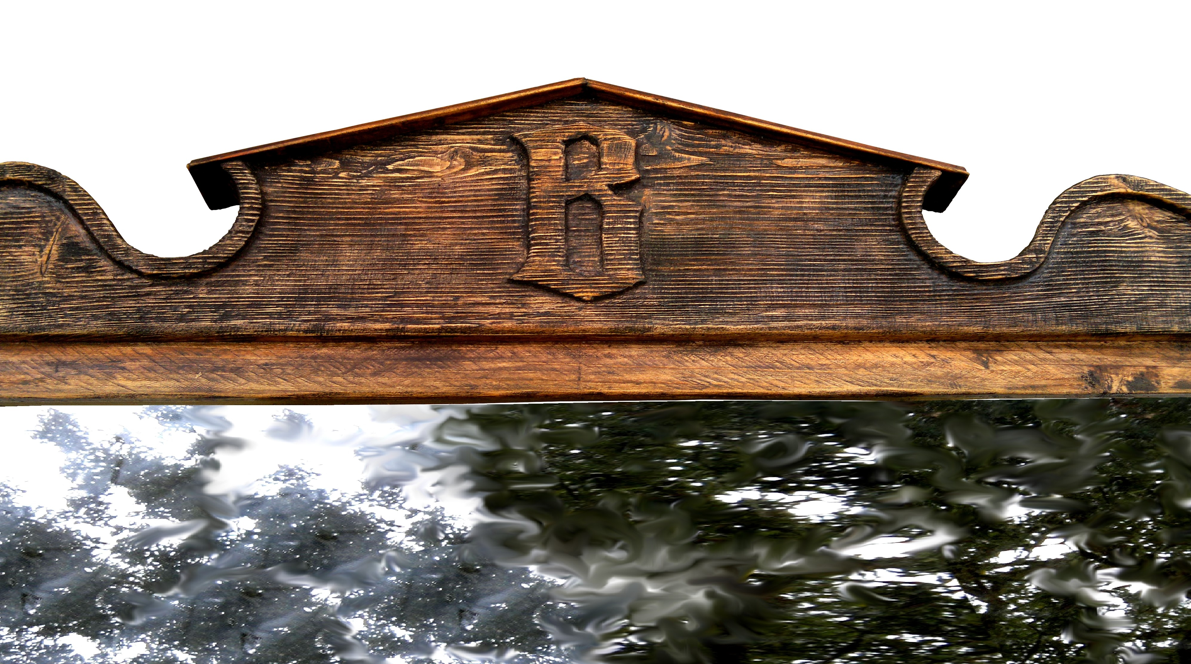 Rustic Mirror. Detail