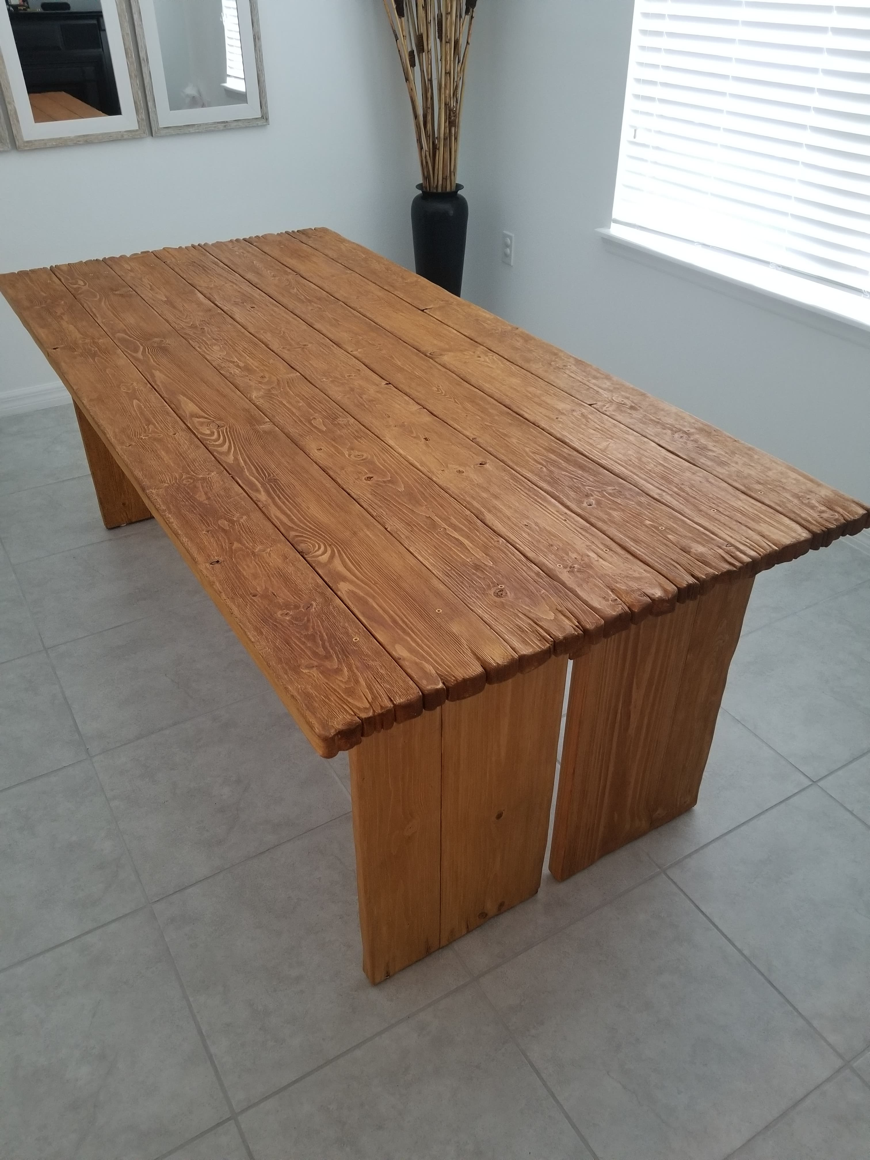Farmhouse Rustic Dining Table
