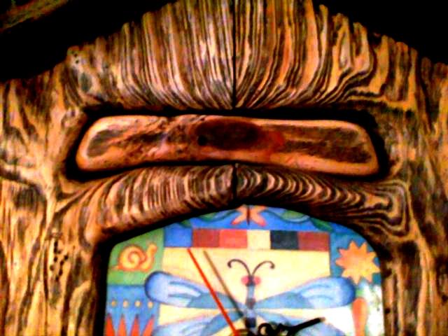 Rustic clock. Detail