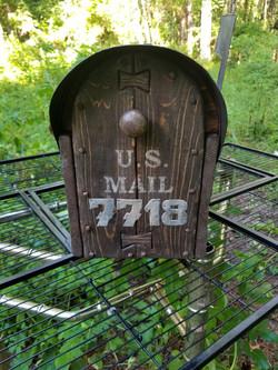 Rustic Mailbox Cedar Door