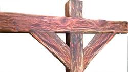 Rustic beam detail