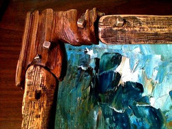 Rustic nature painting. Detail