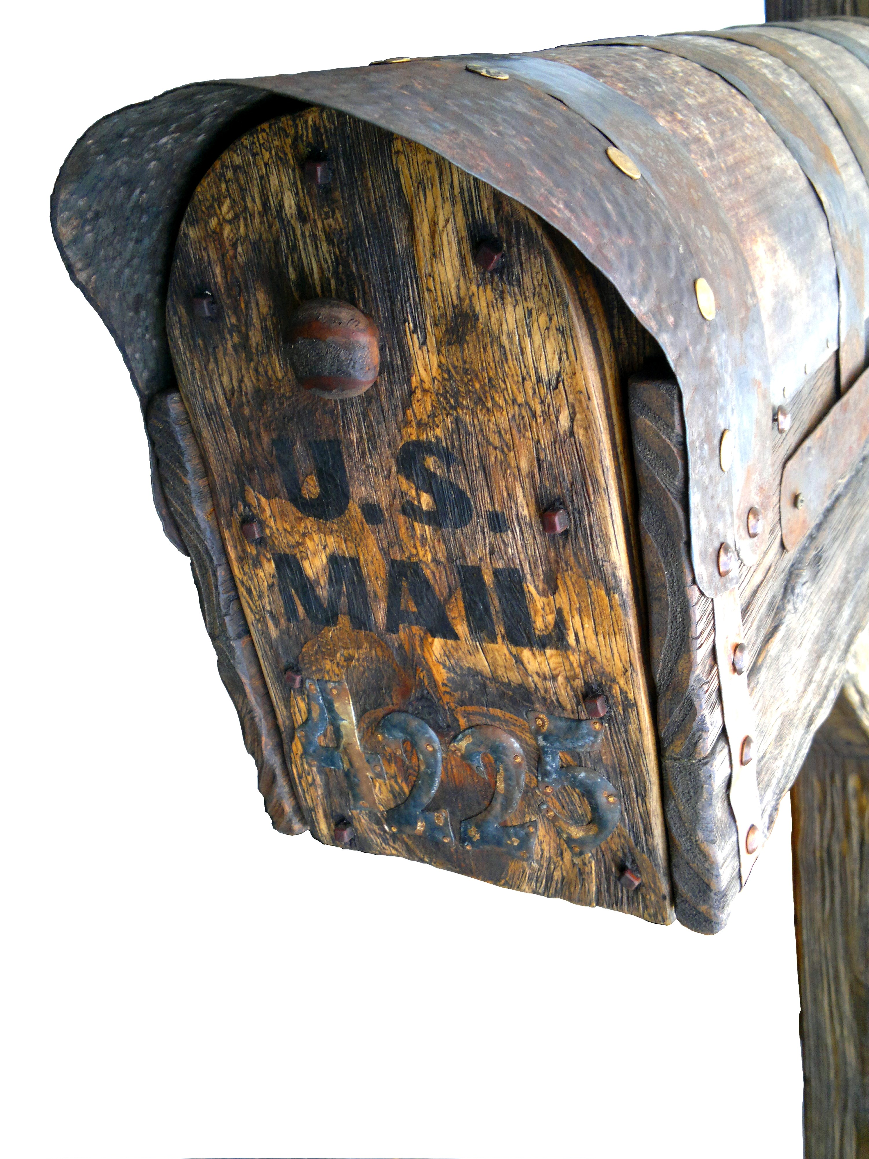 Rustic mailboxes. Detail