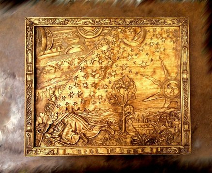 Hand carved picture