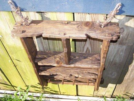 Rustic style shelf