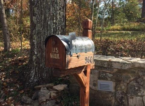 Rustic all cedar mailbox in TN