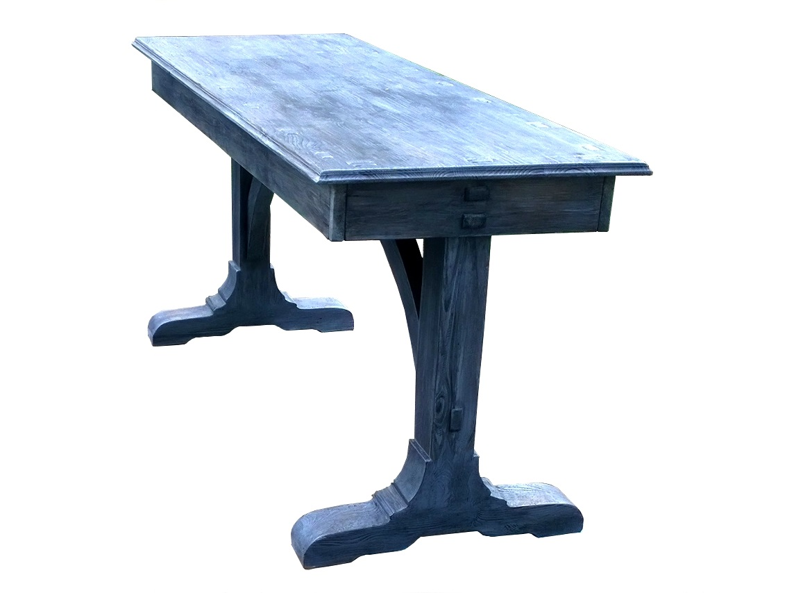 Rustic silver-gray bench