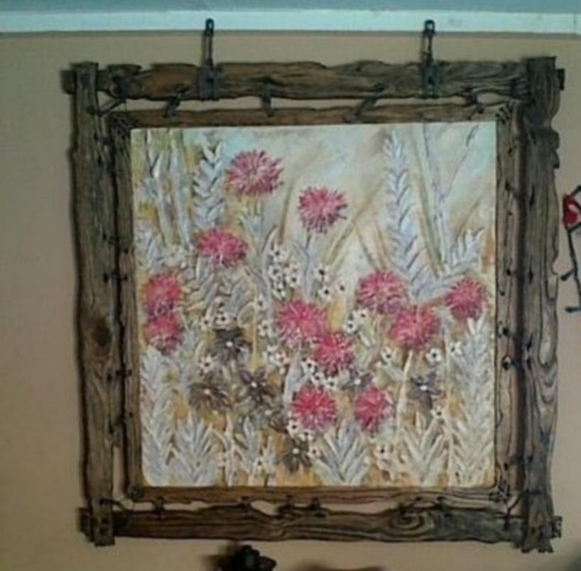 Rustic flowers painting