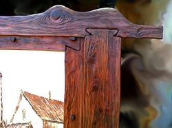 "Painting ""Riga tavern window"".Detail"