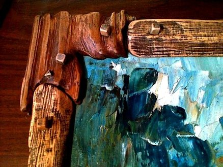 Rustic nature painting