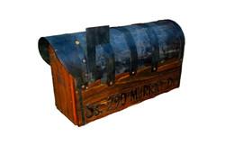 Rustic mailbox with cedar door