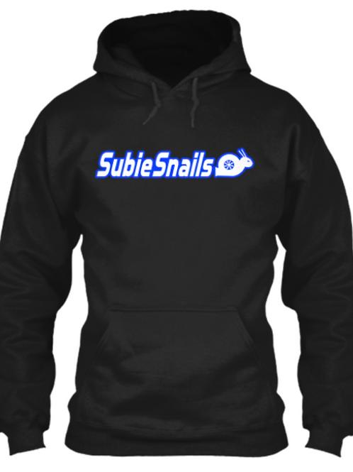 Snail Hoodie - Blue Outline