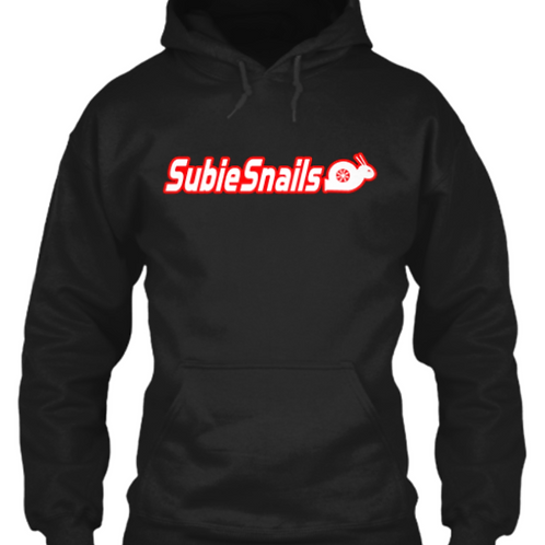 Snail Hoodie - Red Outline