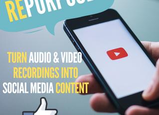 Repurpose Your Audio and Video Recordings through Transcription