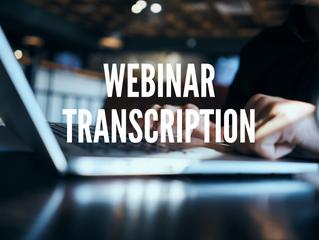 Webinar Transcription: Ways to Maximize the Impact of Your Webinar
