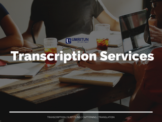 UMRITUN Transcription Services 2021