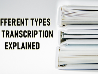 What are the Types of Transcription?