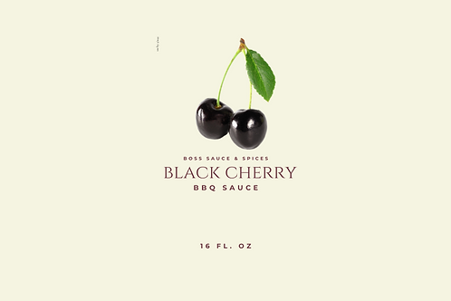 Black Cherry BBQ Sauce- 16oz