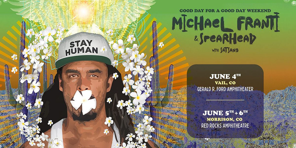 Michael Franti - Sun, June 6