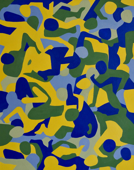 untitled camo 8, 16in x 20in, oil on can