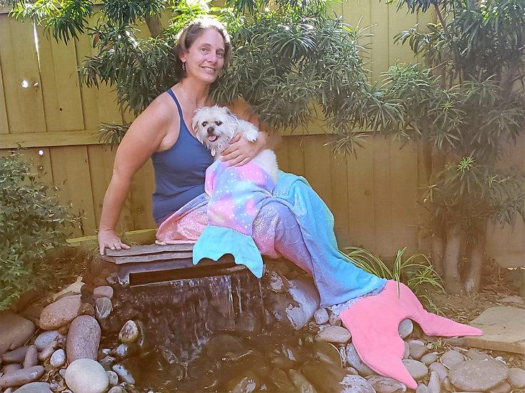 Mermaid Tail blanket adult doll