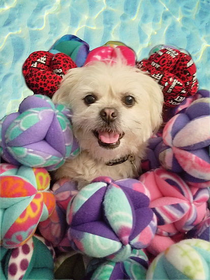 plush balls fleece child dog nodes easy to carry throw