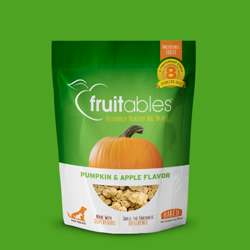 Fruitables Dog Treats Pumpkin & Apple 198gr