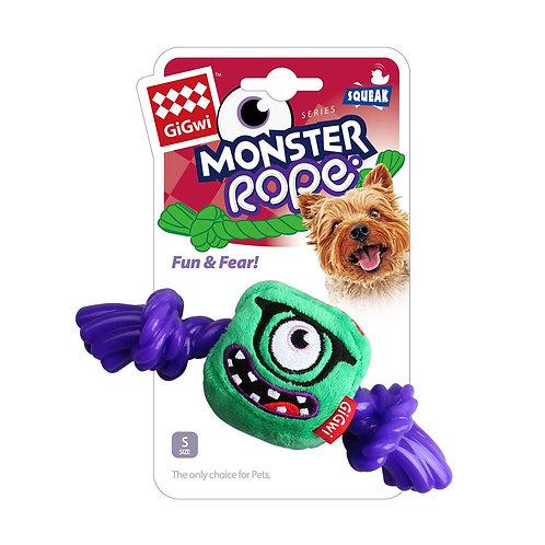 Green monster Rope Squeaker Inside Small Plush/Rope