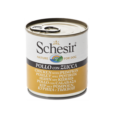 Schesir Dog Can - Chicken & Pumpkins 285 grams
