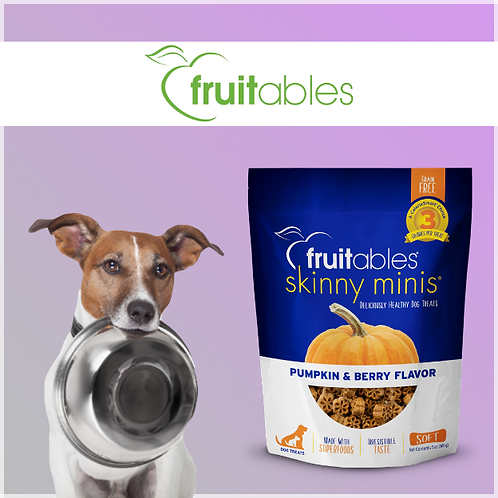 Fruitables Skinny Minis Dog Treats Pumpkin & Berry 141g