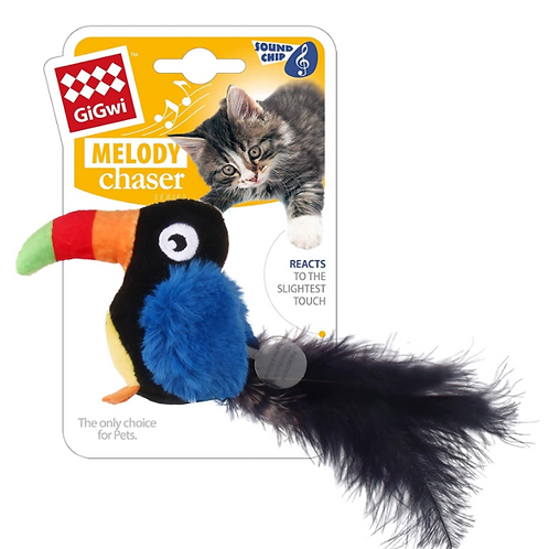 GiGwi Melody Chaser Toucan w/ motion sound chip