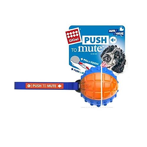 GIGwi Regular Ball push to Mute solid/transparent blue/orange
