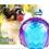 Thumbnail: Gigwi Ball Purple /Blue Squeaker Transparent (Medium)